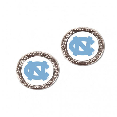 North Carolina Wincraft UNC Jewelry Carded Round Earrings