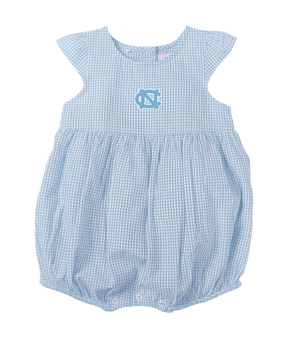 UNC Baby Onesie Dress in Gingham