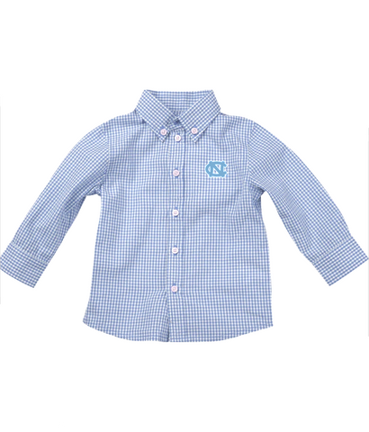 UNC Baby Long Sleeve Shirt in Gingham