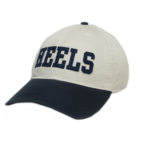 Heels Baseball Cap- Vintage Khaki and Navy