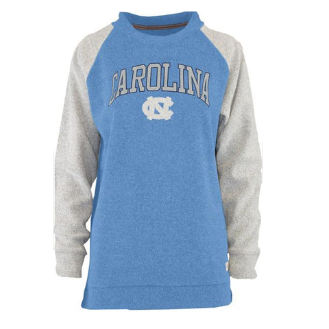 Carolina Tar Heels Heidi Terry Raglan Style Crew Neck Sweatshirt - Carolina Blue