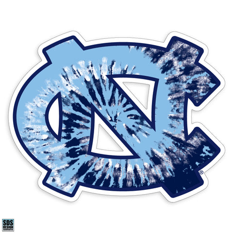 UNC Tie Dye Logo Decal Sticker - 3 Inches