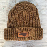 Lumberjack by Legacy - Saddle Brown with Leather Patch North Carolina Beanie