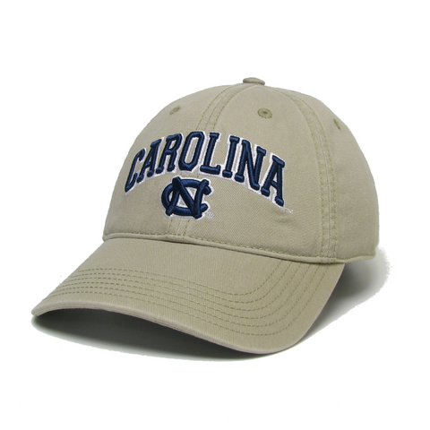 UNC Hat in Khaki with Embroidered Main Event Carolina Tar Heels Logo