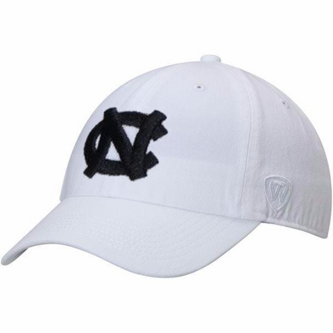 North Carolina Tar Heels Top of The World Paul Dad Adjustable Hat - White