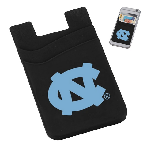 North Carolina Tar Heels Jardine Dual Pocket Black Phone Wallet