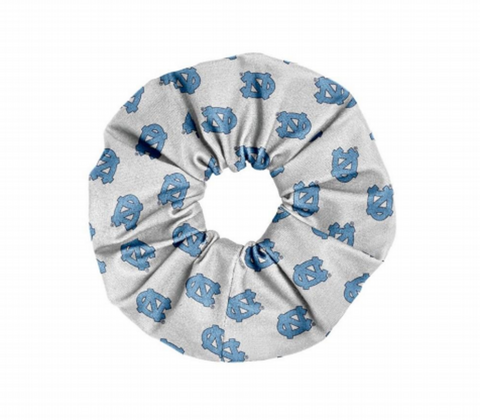 North Carolina Tar Heels League White UNC Scrunchie