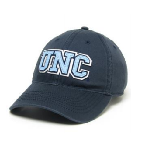 UNC Hat in Collegiate Navy 3 layer Embroidery