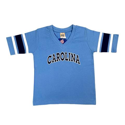 Kids  3/4 Sleeve V-Neck UNC Tar Heels T-Shirt