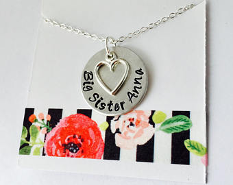 Big Sister Necklace, Personalized Big Sister Necklace, Big Sister Name Necklace