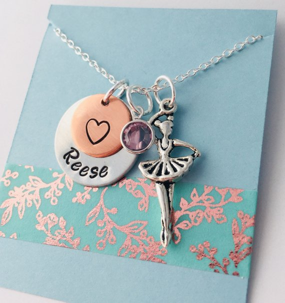 Ballerina Necklace, Dancer Necklace,  Dance Team Necklace , Dance Recital, Gift for Ballerina