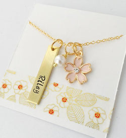 Personalized Name Necklace, Flower Girl Necklace, Gold Name Necklace