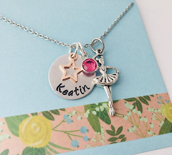 Ballerina Necklace, Dancer Necklace, Dance Recital, Gift for Ballerina
