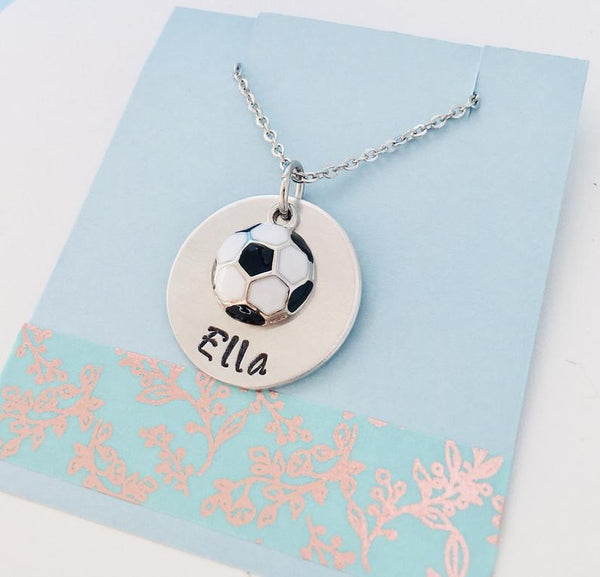 kids soccer necklace