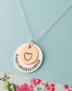 kids names mom necklace