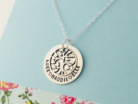 Mom Family Tree Necklace
