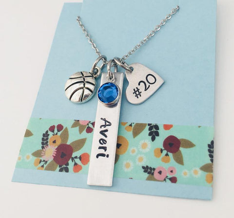 baskeball necklace
