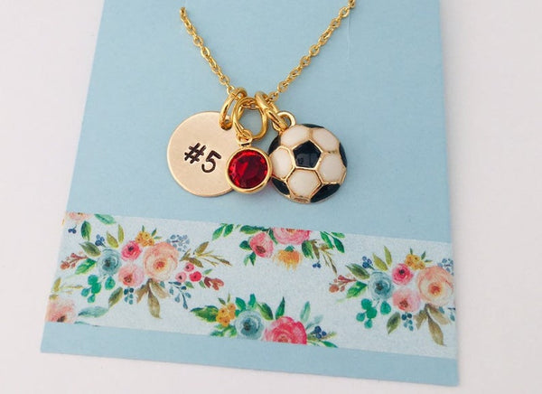 Gold Soccer Necklace