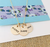 Kids Names Necklace, Gold Mom Necklace