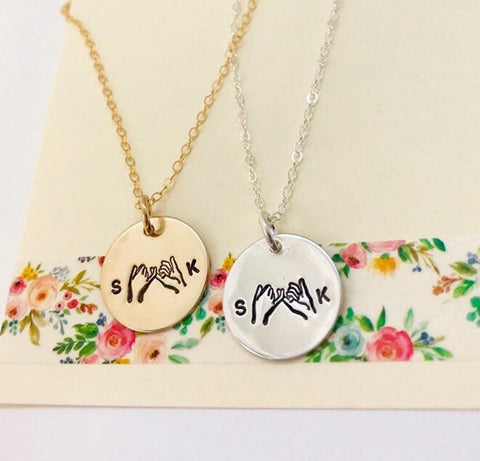 Pinky Promise Necklace, Best Friend Necklace