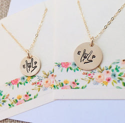 matching mother daughter necklaces
