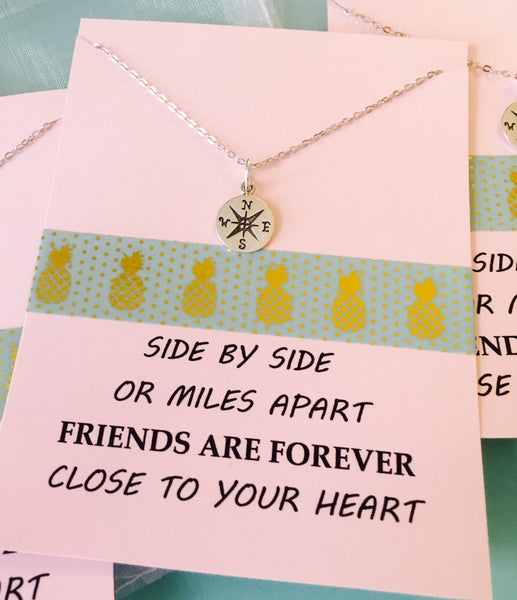 Best Friends Necklace, Friends quote, Friends Necklace Sterling Silver