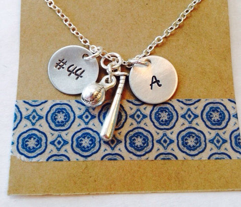 Softball Necklace, Personalized Baseball Necklace, Softball Mom Necklace, Baseball Mom, Girls Baseball Necklace