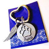 Rememberance Pet keychain / Pet Memorial  /keychain Pet Remembrance Gift / Pet Loss / In Memory of Gift