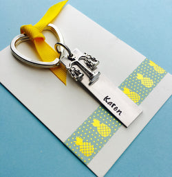 Lawyer Gift, Scales of Justice, Scale Charm, Personalized Name Keychain, Lawyer Keychain, Law School, Paralegal Gift