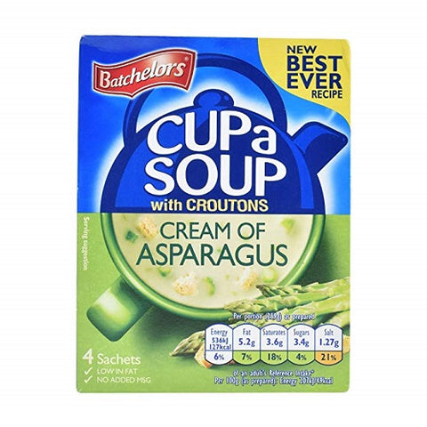 Batchelors Cup a Soup Asparagus with Croutons 4's 117g x2 - British Food Supplies