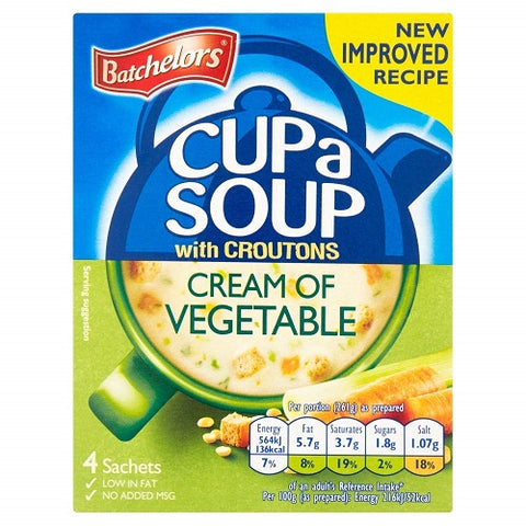 Batchelors Cup A Soup with Croutons Cream Of Vegetable 4S 120G