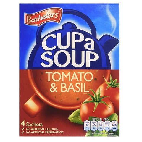 Batchelors Cup A Soup Tomato & Basil 4 x 26g - Pack of 6