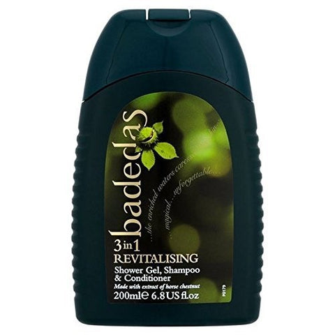 Badedas Revitalising Shower Gel, Shampoo & Conditioner 200ml (PACK OF 4)