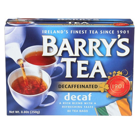 Barry's Tea, Decaffeinated, 80 Tea Bags (Pack of 6) - British Food Supplies