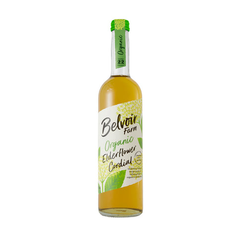 (2 Pack) - Belvoir - Organic Elderflower Cordial | 500ml | 2 PACK BUNDLE - British Food Supplies