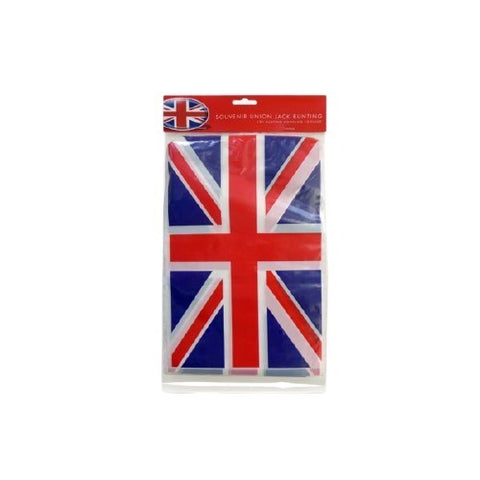Bunting Union Jack Rectangular PVC 10 Flags 12FT
