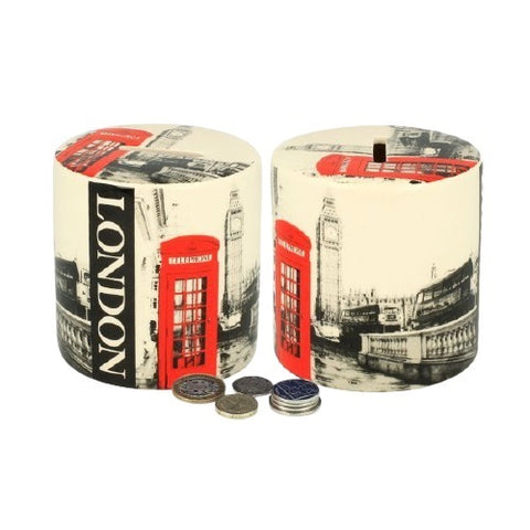 BW Red Telephone & Big Ben Ceramic Money Box