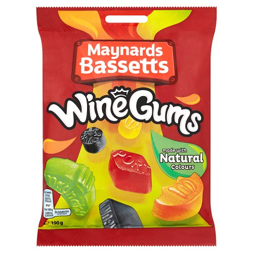 British Maynard's Wine Gums - Case Of 12 x 190g Bags