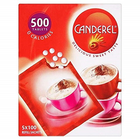 Canderel 5 Refill Sachets 500 Tablets x 4