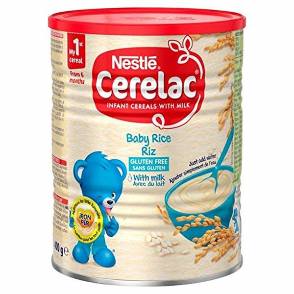 Nestle Cerelac, Rice with Milk, 14.11-Ounce Can (400 Grams), (Pack of 4)