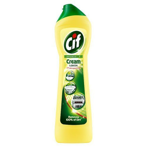 Cif Cream Lemon 500 ml (Pack of 4)