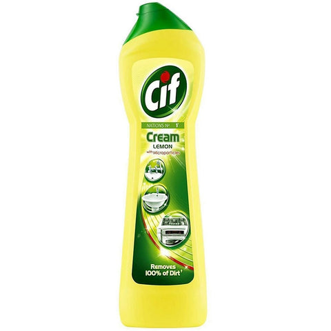 CIF Lemon Cream Cleaner 250ml (Pack of 6)