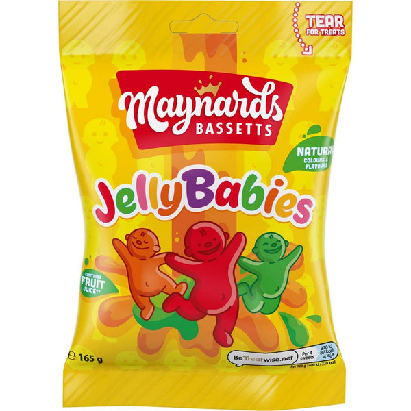 Maynards Bassetts Jelly Babies Sweets Bag 165g (Pack of 6)