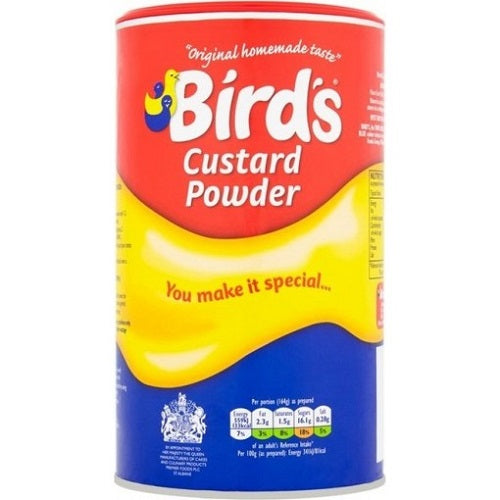 Bird's Custard Powder, 600g Canisters Pack of 2 - British Food Supplies