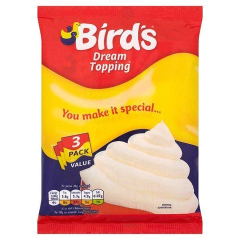 Birds Dream Topping Sachet (3x36g) 108G (Pack of 6)