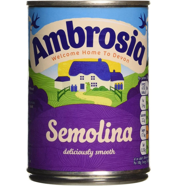 Ambrosia Creamed Semolina Pudding - 400g - Single Tin (400g x 1 Tin)