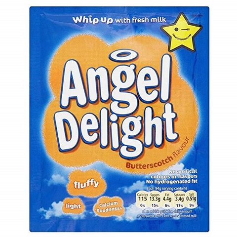 Angel Delight Butterscotch. Case of 18.