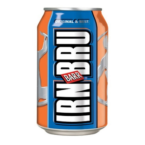 Barr Irn-Bru 330Ml Case Of 8 Barr Irn-Bru 8 X 330 ML Pack - British Food Supplies