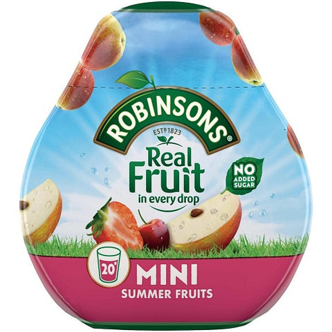 Robinsons Squash'd Summer Fruits No Added Sugar (66ml) - Pack of 6