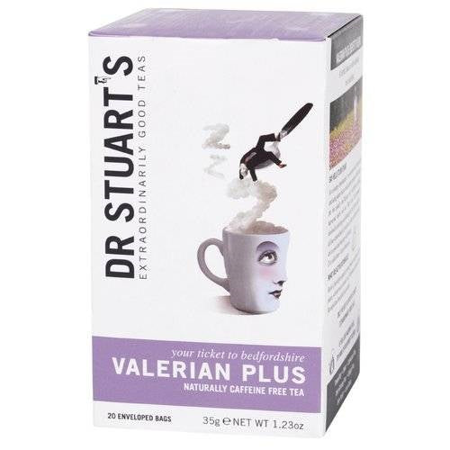Dr Stuarts Valerian Plus Herbal Tea 15 Bags (Pack of 4)